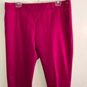 NWT Lauren pink slacks w side zipper, size 14.